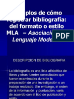 Referencia bibliiográfica Estilo MLA