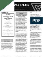 April 2008 CLGRO Newsletter