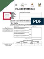 Portada Portafolio Evidencias CECyTEH 2013