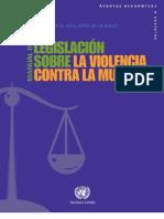 Onu Manual de Legislacion Sobre La Violencia Contra La Mujer