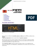 Novedades HTML5