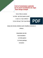 Rapport de la Commission spéciale d'enquête sur la mort troublante du Juge Jean Serge Joseph
