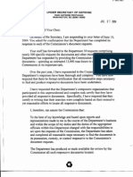 SD B2 DOD 1 of 2 Fdr- 6-10-04 Commission Request to DOD for Certification of Compliance With Document Requests- 7-21-04 DOD Response 740