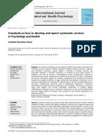 Perestelo2013 Normas para realizar y redactar revisiones sistemáticas en psicología y salud