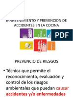 Mantenimiento y Prevencion de Accidentes en La Cocina