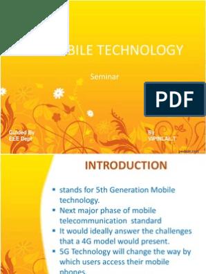 5g Mobile Technology Ppt////////////   4 G   Mobile Phones