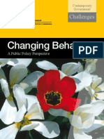 Changing Behaviour - A Public Policy Perspective