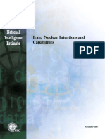 National Intelligence Estimate 2007 - Iran