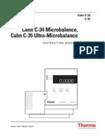 Cahn C-35 Microbalance Manual