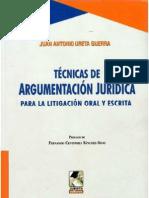 LIBRO LAS TECNICAS DE ARGUMENTACIÓN JURÍDICA