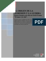 Ensayo Origen de la guerra y la agresion por Alexander Rojas Patiño