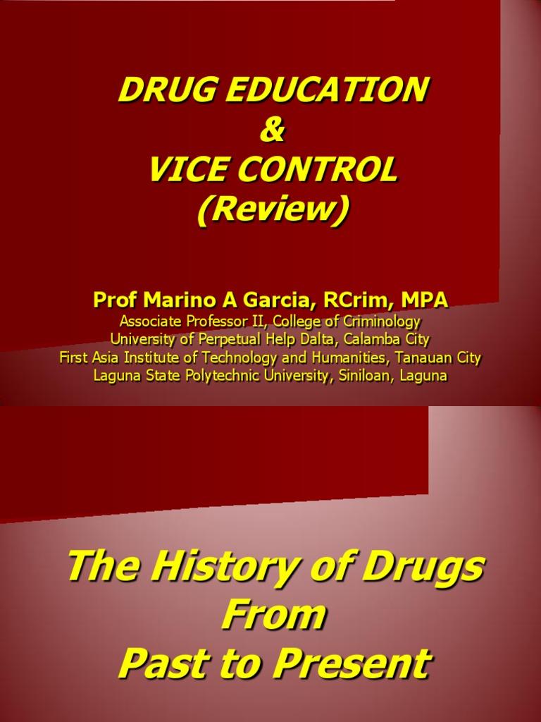 Drug Education and Vice Control | Cannabis (Drug