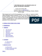 Guidelines for Seminar and Project Reports