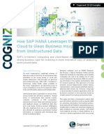 How SAP HANA Leverages the Cloud to Glean Business Insights from Unstructured Data