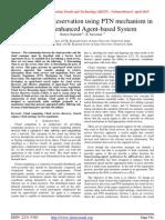 Cloud Service Reservation using PTN mechanism in Ontology enhanced Agent-based System