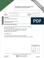 Question paper IGCSE