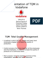 Implementation of TQM in Vodafone