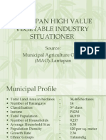 Lantapan High Value Vegetable Industry Situationer
