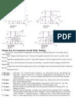 master  key for Transistor ckt faults