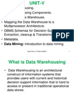 UNIT-V Data Warehousing, Data Mining & OLAP