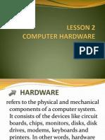 Lesson 2 Hardware