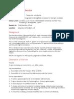Person Specification and Job Description
