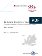 Do Regional Organizations Travel? European Integration, Diffusion and the Case of ASEAN