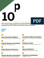 SAP TopTen Suite on HANA