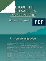 Metode de Rezolvare a Problemelor