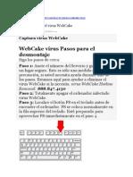 Cómo eliminar el virus WebCake