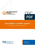 Using PRINCE2 and MSP Together Oct 2010