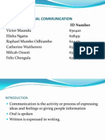 Writtena and Oral Communication ~ Waitherero and Co. 25.3.2013