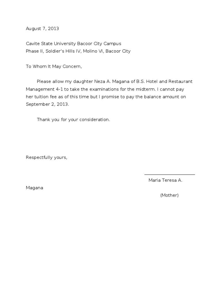 PROMISSORY NOTE SAMPLE – Promissory Note Sample Letter