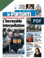 Le Parisien + Cahier de Paris + Eco Du Lundi 01 Octobre 2012