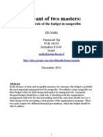 A servant of two masters: the dual role of the budget in nonprofits