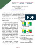 Image Segmentation for Image Object Extraction