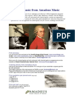 Amadeus Music / sheet music price list