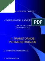 Ginecologia y Embarazo-Adolescente ..........