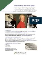 Amadeus Music / guitar sheet music price list