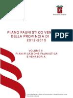 Piano Faunistico Venatorio Siena 2012-2015