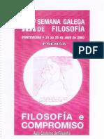 XX Semana Galega de Filosofía