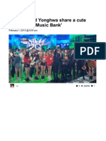 Yongseo Shared a Cute Moment on Music Bank