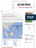All You Wanted to Learn About South-East Asia !!! (Special) - IAS OUR DREAM