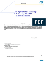Planar Fd Silicon Technology Competitive Soc 28nm