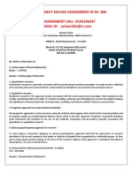 MK0013 -Marketing Research
