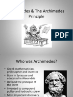 Archimedes & the Archimedes Principle