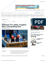 For Safety, Toughen New York Boating Laws - Editorial