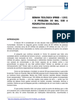 Ensaios SPBSB - Semana Teológica 1.2012 - Rômulo Correa - O Problema do Mal sob a Perspectiva Sociológica