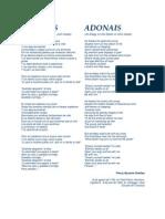 ADONAIS - Percy. B. Shelley