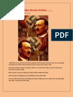 Golden Words of Hitler